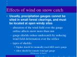effects of wind on snow catch