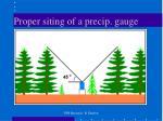 proper siting of a precip gauge