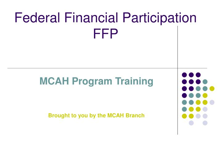 federal financial participation ffp n.