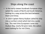 ships along the coast