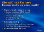 direct3d 10 1 features increased pipeline and shader capability