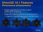 direct3d 10 1 features performance enhancements
