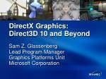 directx graphics direct3d 10 and beyond