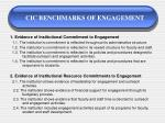 cic benchmarks of engagement27