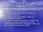 snapshot of seafood laws and regulations fd c act