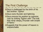the first challenge