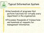 typical information system5