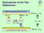 equivalence of the two statements