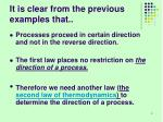 it is clear from the previous examples that