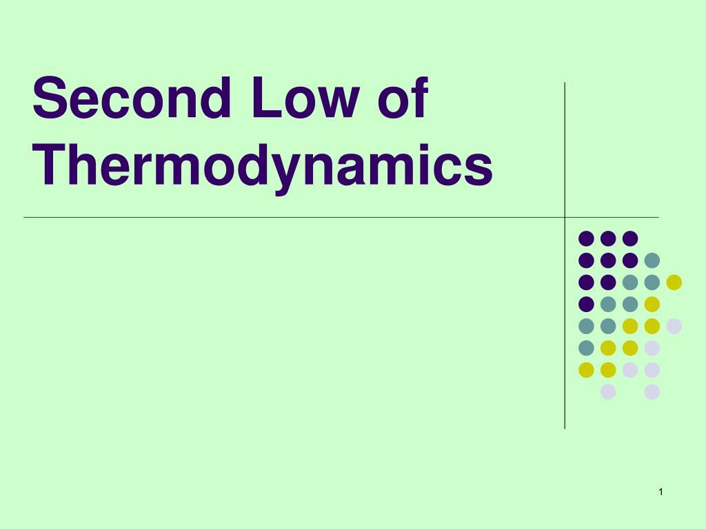 second low of thermodynamics l.