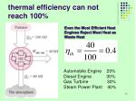 thermal efficiency can not reach 100