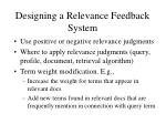 designing a relevance feedback system