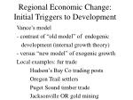 regional economic change initial triggers to development