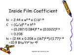 inside film coefficient