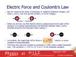 electric force and coulomb s law