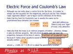 electric force and coulomb s law18