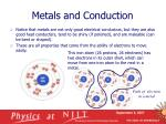 metals and conduction