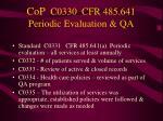 cop c0330 cfr 485 641 periodic evaluation qa