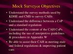 mock surveyor objectives