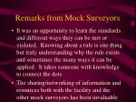 remarks from mock surveyors