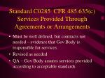 standard c0285 cfr 485 635 c services provided through agreements or arrangements