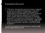 transaction account