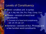 levels of constituency