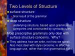 two levels of structure