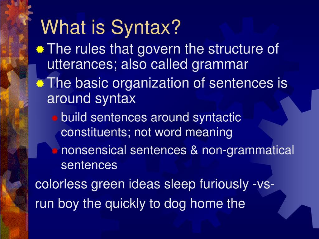 what is syntax l.