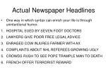 actual newspaper headlines