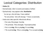 lexical categories distribution11