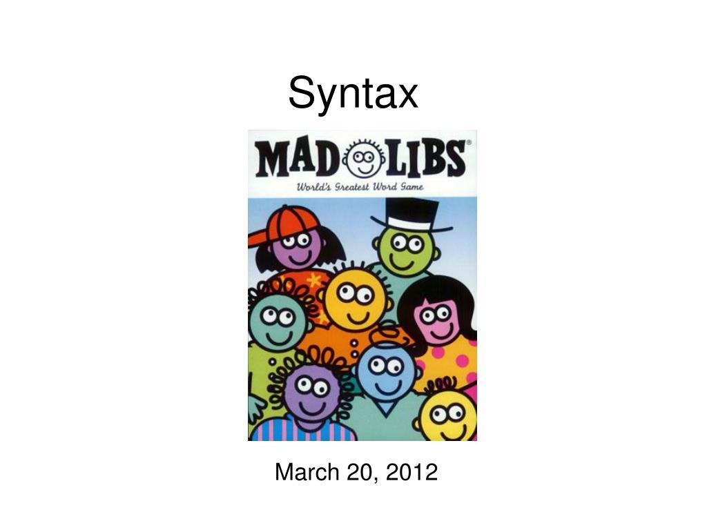 syntax l.