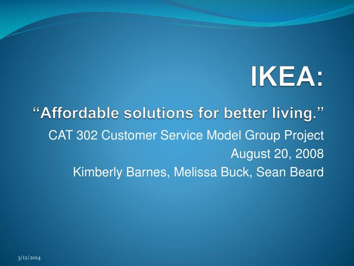 "ppt - ikea: ""affordable solutions for better living."" powerpoint, Presentation templates"