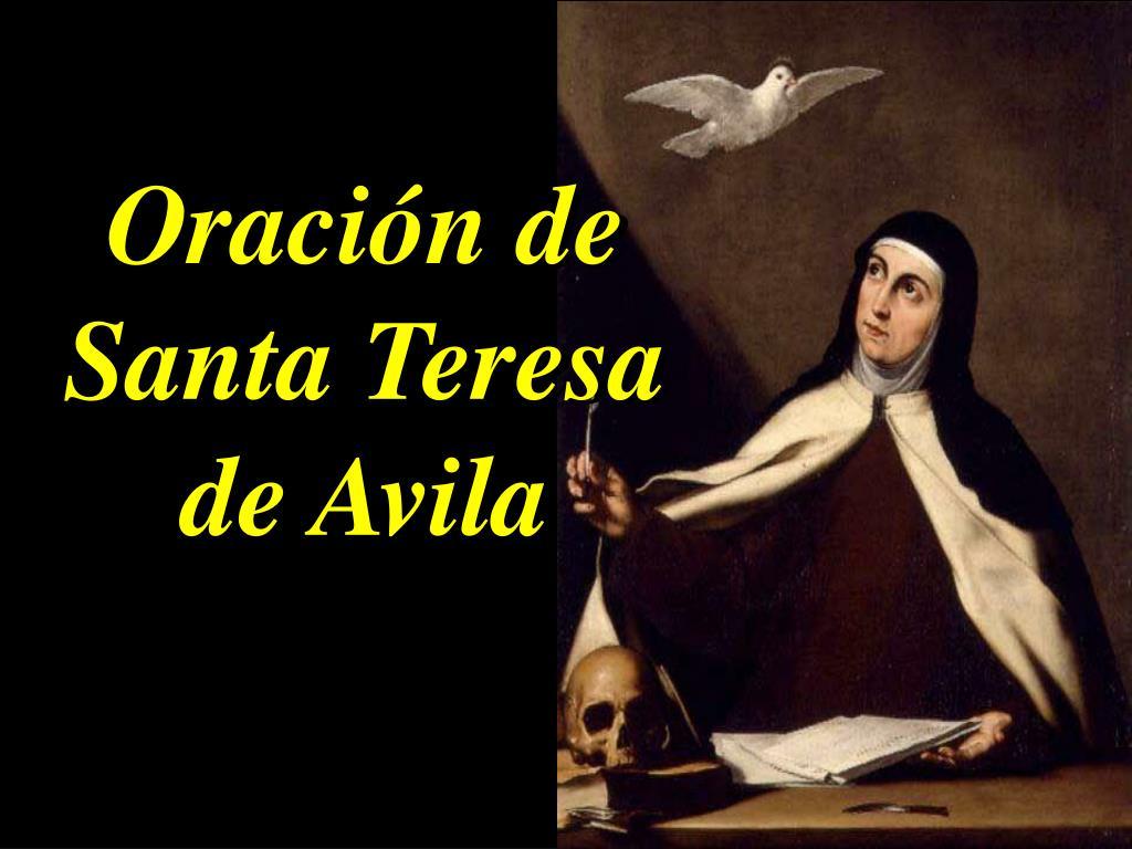 Oración de Santa Teresa de Avila