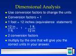 dimensional analysis15