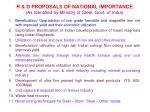 r d proposals of national importance as identified by ministry of steel govt of india