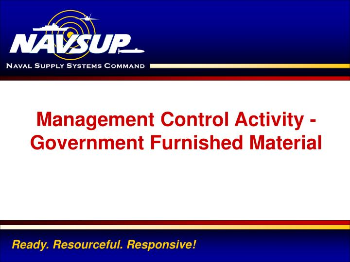 Management Control Activity -