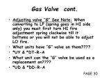 gas valve cont