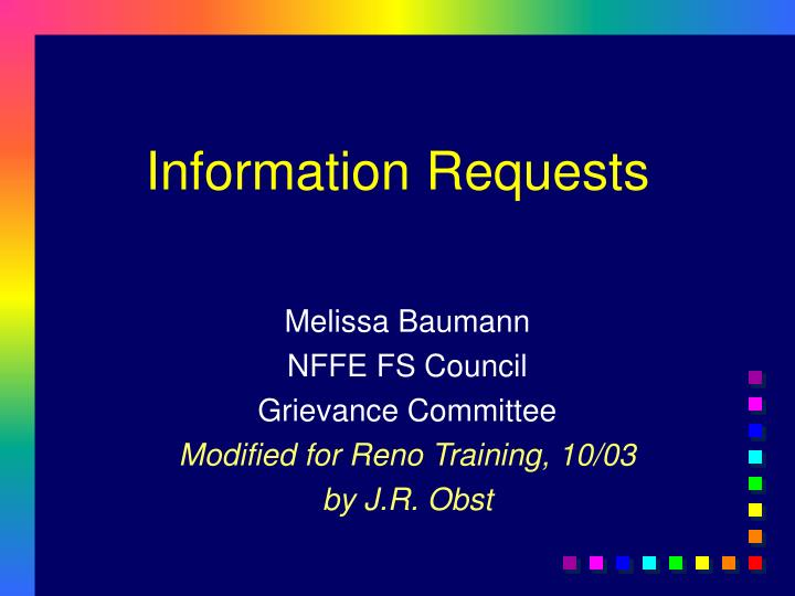 information requests n.