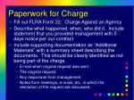 paperwork for charge