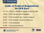code of federal regulations 29 cfr part1