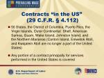 contracts in the us 29 c f r 4 112