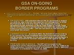 gsa on going border programs11