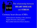 the relationship between heart disease and stress