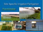 site specific irrigation fertigation