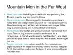 mountain men in the far west