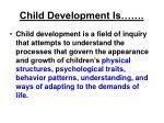 child development is