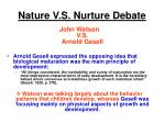 nature v s nurture debate