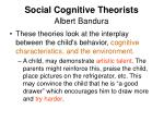 social cognitive theorists albert bandura