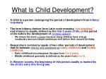 what is child development